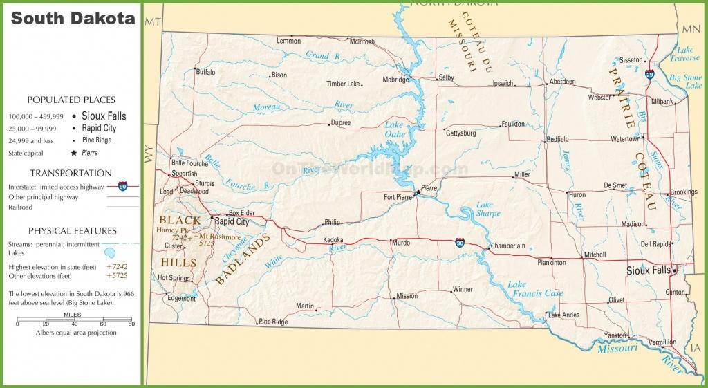 South Dakota Highway Map - Printable Map Of South Dakota