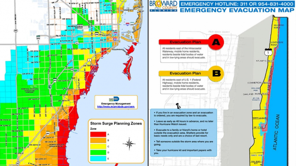 South Florida Evacuation Zones In The Event Of A Hurricane - Nbc 6 - Flood Zone Map South Florida