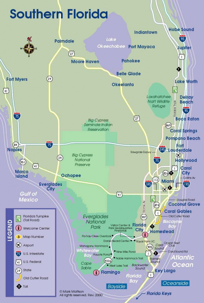 South Florida Map | Travel Maps | Florida Keys Map, South Florida - Coral Beach Florida Map