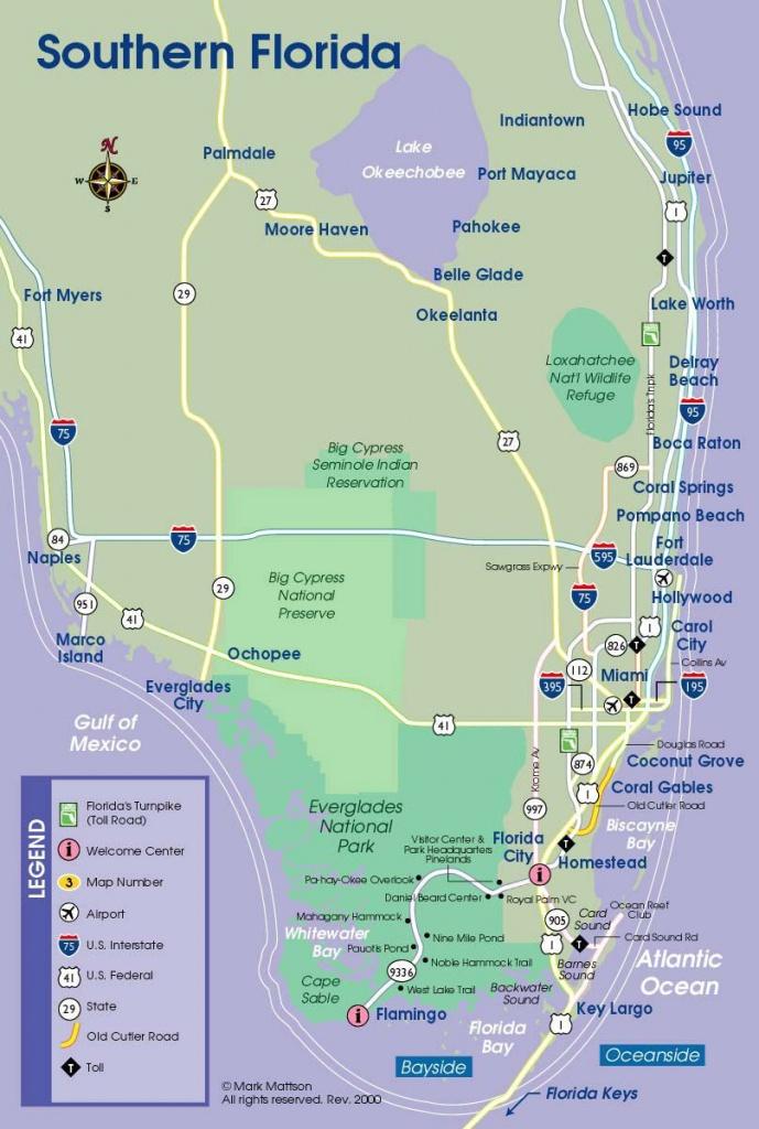 South Florida Map | Travel Maps | Florida Keys Map, South Florida - Cypress Key Florida Map