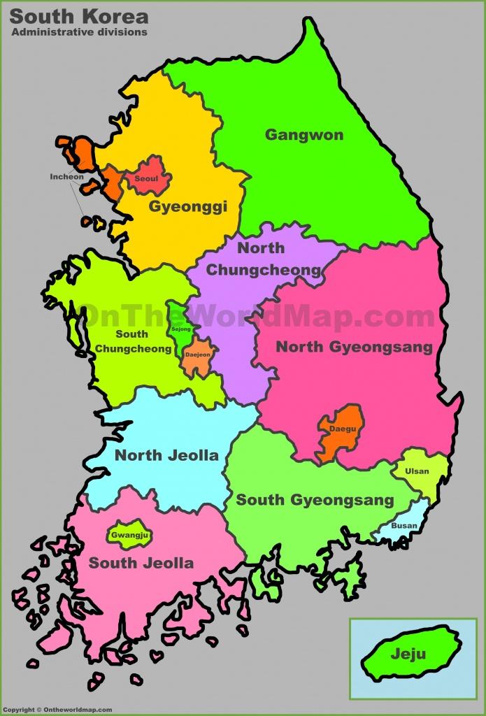 Printable Map Of Korea