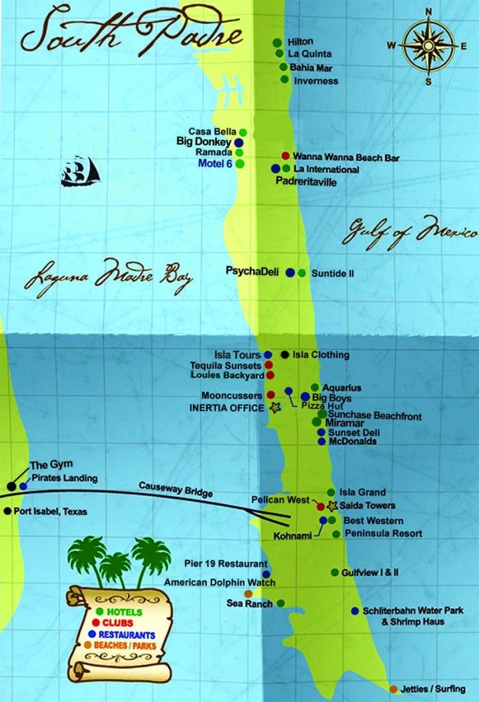 South Padre Island Map   South Padre Island Hotels South Padre - Padre Island Texas Map