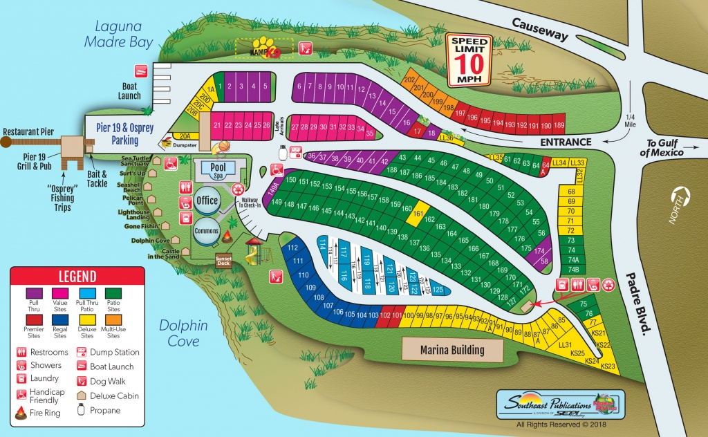 South Padre Island, Texas Campground | South Padre Island Koa - Texas Rv Parks Map