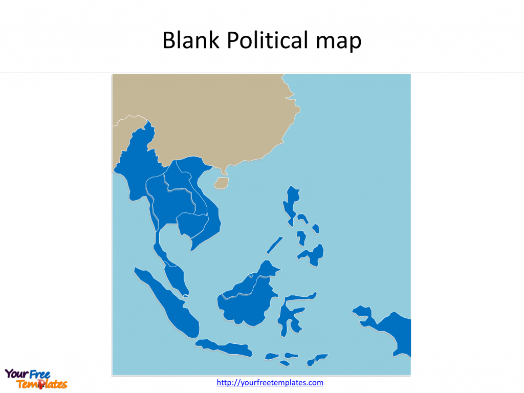 Southeast Asia Map Free Templates - Free Powerpoint Templates - Printable Blank Map Of Southeast Asia
