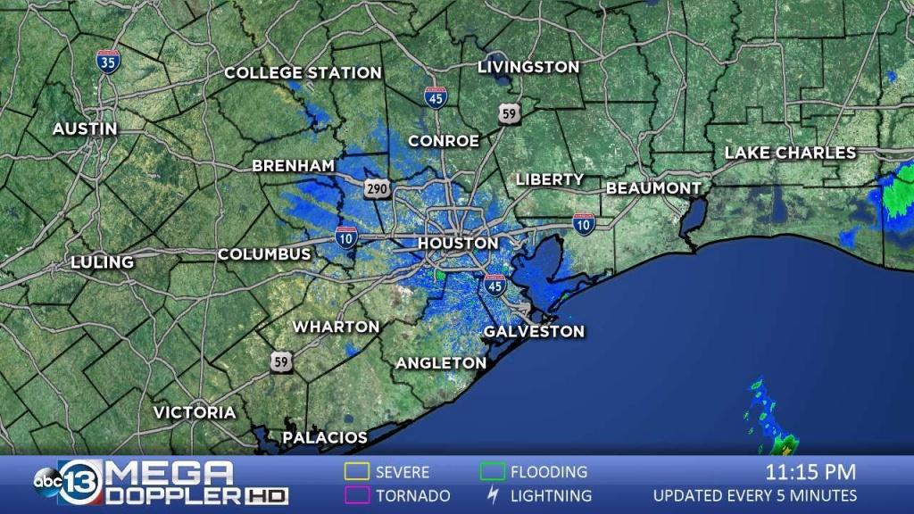 Southeast Texas Radar | Abc13 - Texas Satellite Weather Map