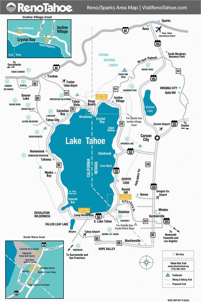 Southern California Breweries Map Lake Tahoe Maps And Reno Maps - Lake Tahoe California Map