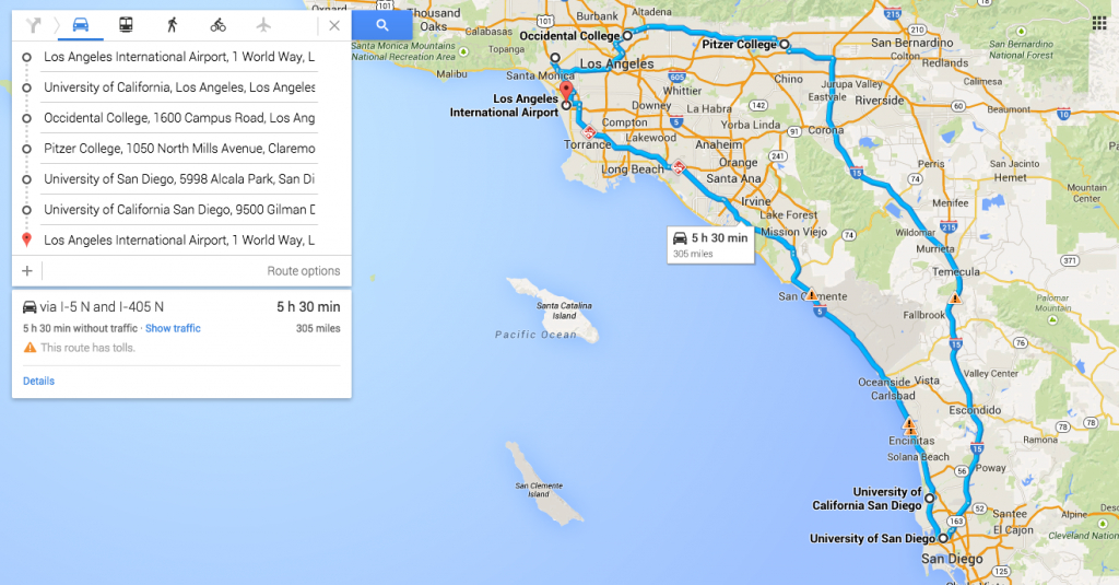 Southern California College Tour (Foodie Edition) - College Kickstart - Colleges In California Map