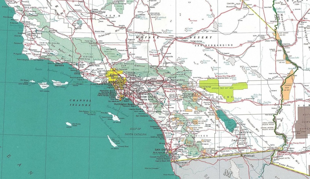 Southern California County Map With Cities And Travel Information - Printable Road Map Of Southern California