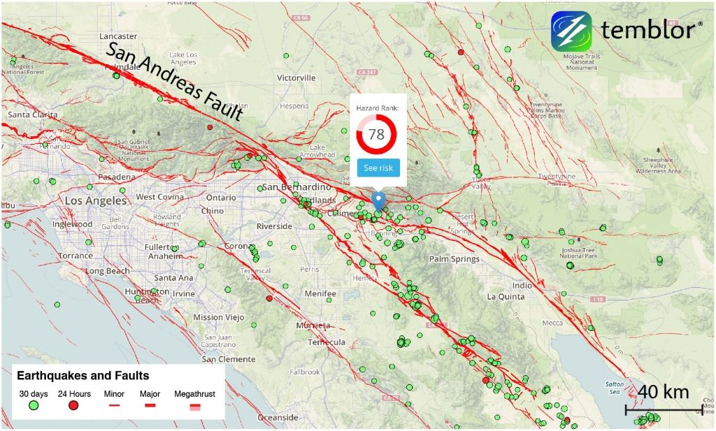 Southern-California-Fault-Map-San-Andreas-Fault – Temblor - Map Of The San Andreas Fault In Southern California