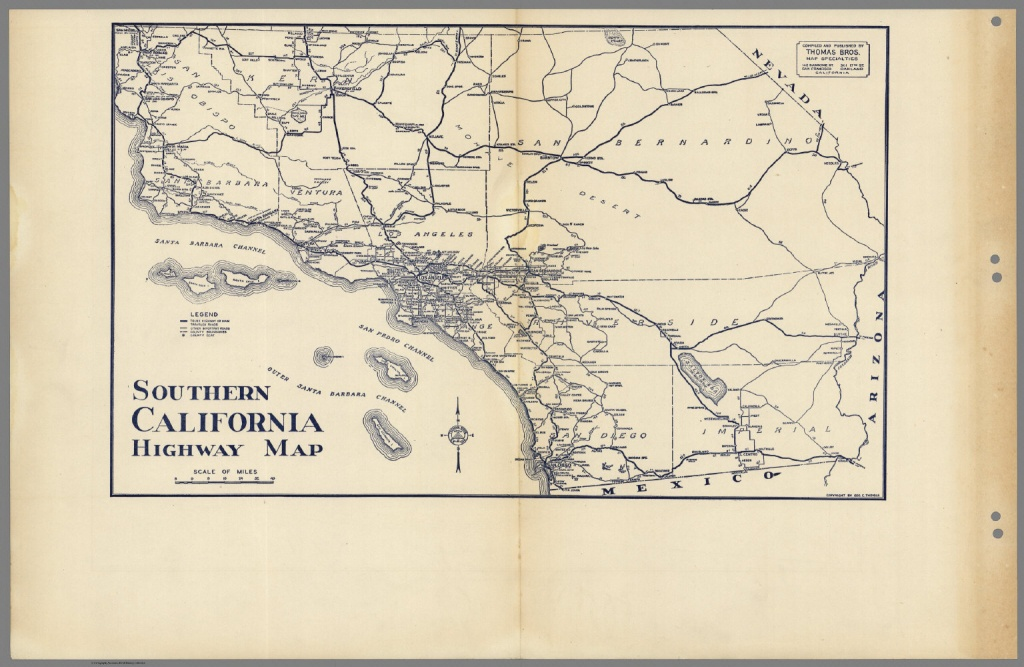 Southern California Highway Map. - David Rumsey Historical Map - Historical Maps Of Southern California