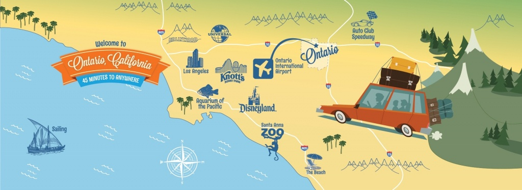 Southern California Map Of Attractions – Map Of Usa District - Southern California Attractions Map