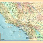 Southern California Wall Map   The Map Shop   California Atlas Map