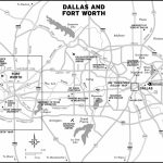 Southwest And Texas Travel Maps Including Dallas, Fort Worth, And   Printable Map Of Fort Worth Texas