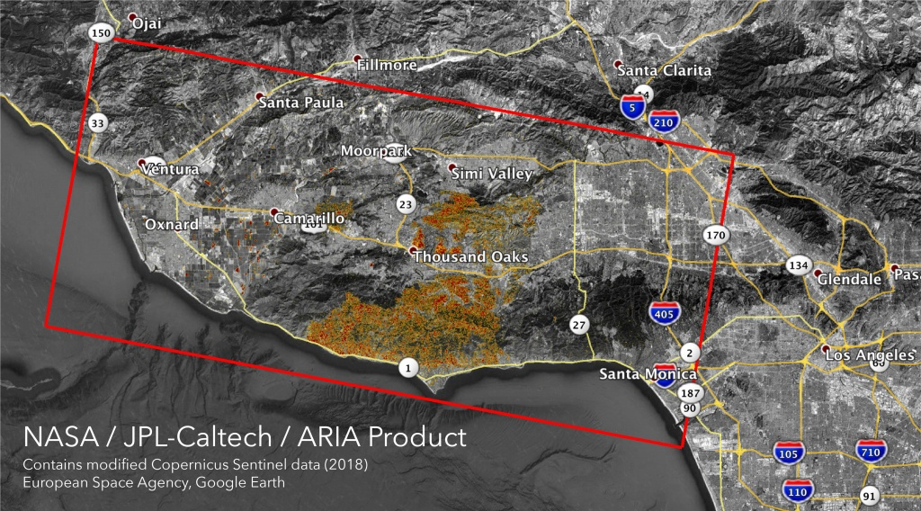 Space Images | Nasa's Aria Maps California Fire Damage - California Fire Damage Map