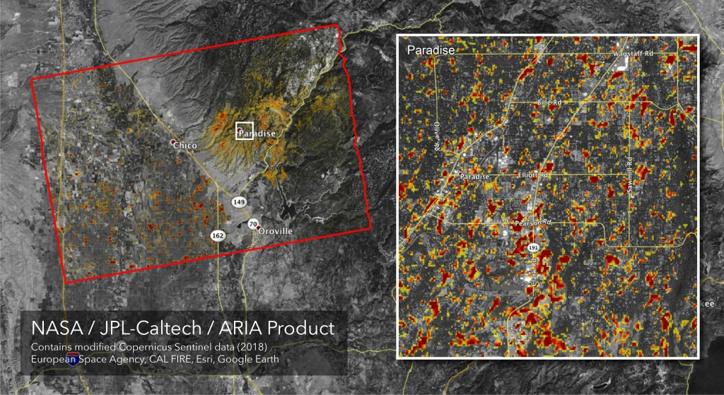 Space Images | Updated Aria Map Of Ca Camp Fire Damage - Map Of California Fire Damage
