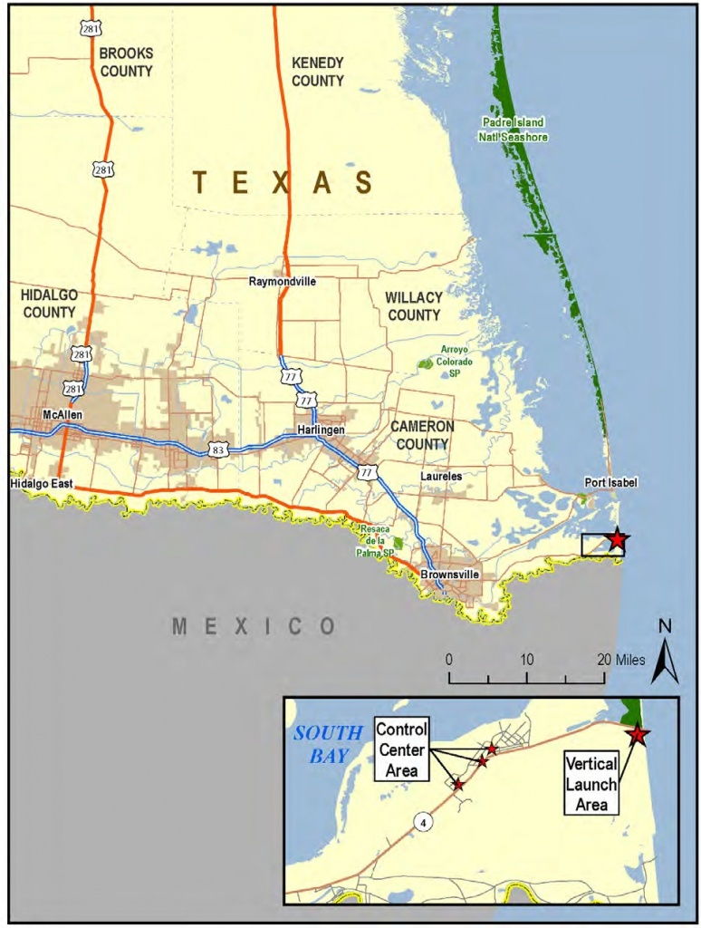 Spacex South Texas Launch Site - Wikipedia - Map Of Brownsville Texas Area