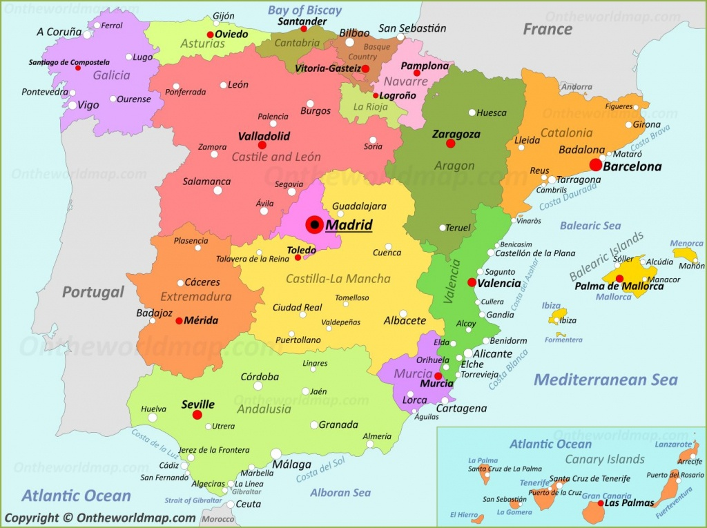 Spain Maps | Maps Of Spain - Printable Map Of Spain With Cities