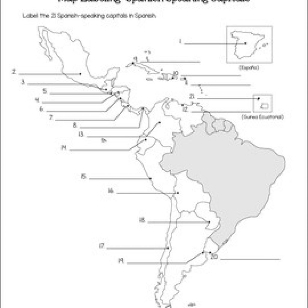Spanish Speaking Countries Map And Capitals Maps Quiz By - Printable Map Of Spanish Speaking Countries