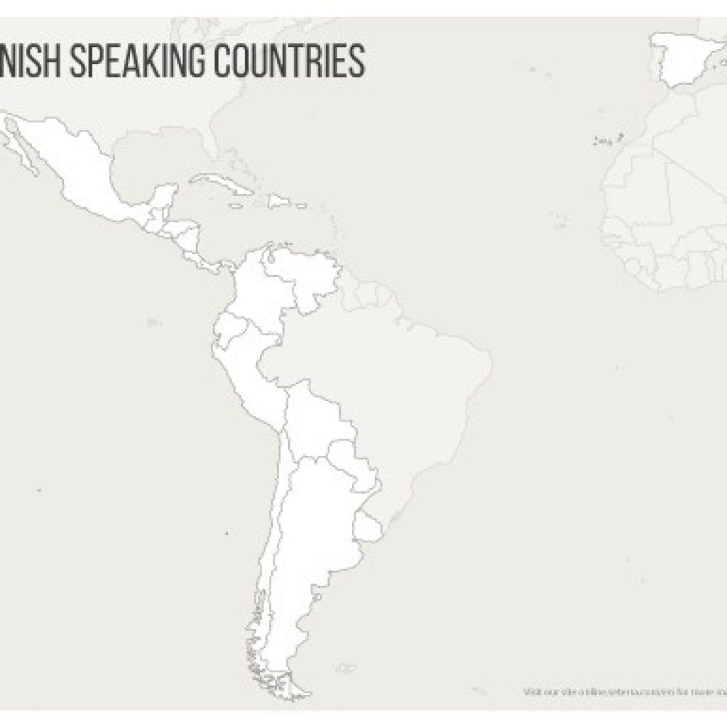 Spanish Speaking Countries Map Printables Quiz Game - Printable Map Of Spanish Speaking Countries