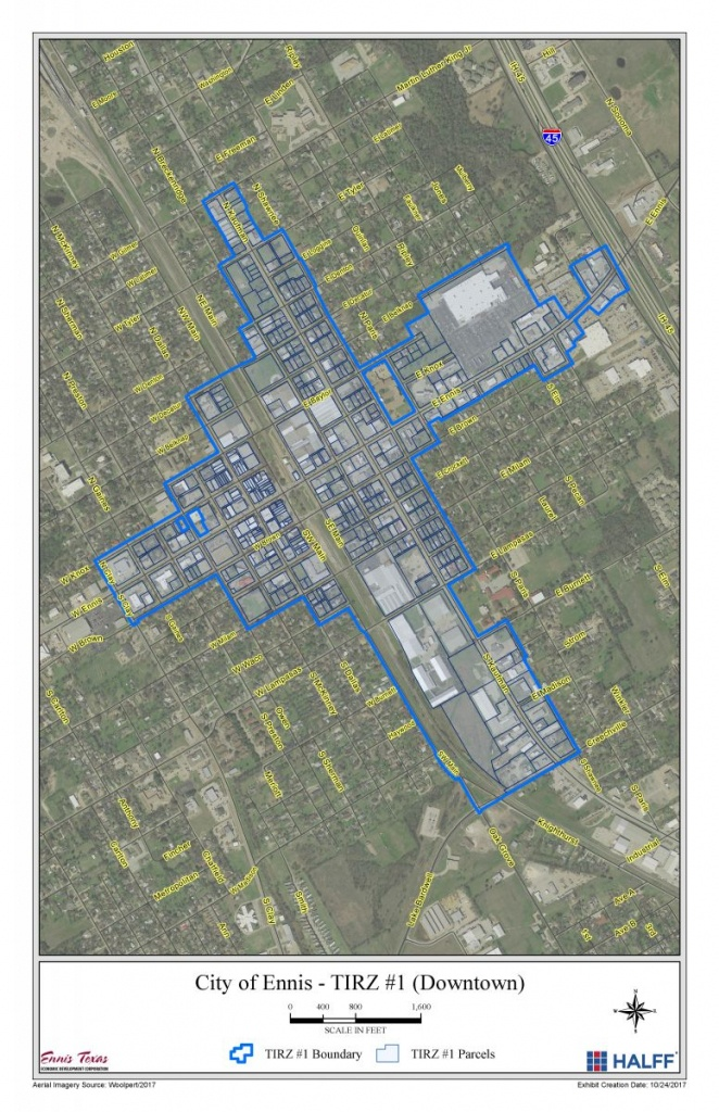 Special Development Districts & Boards | Ennis Tx | Economic - Ennis Texas Map