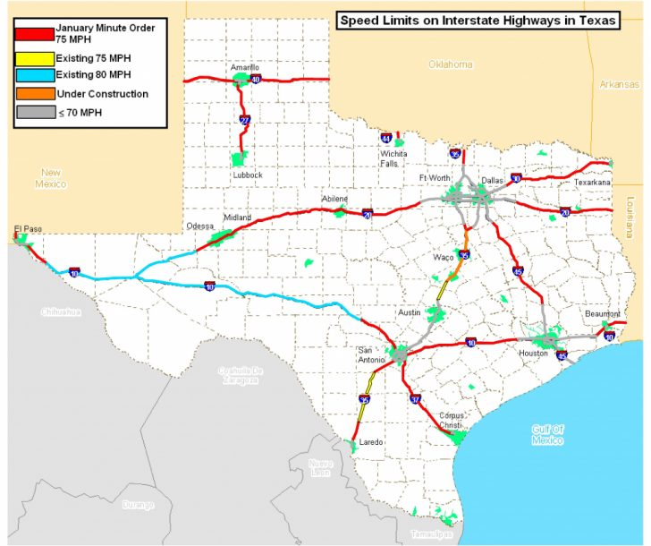 Map Of Texas Highways And Interstates