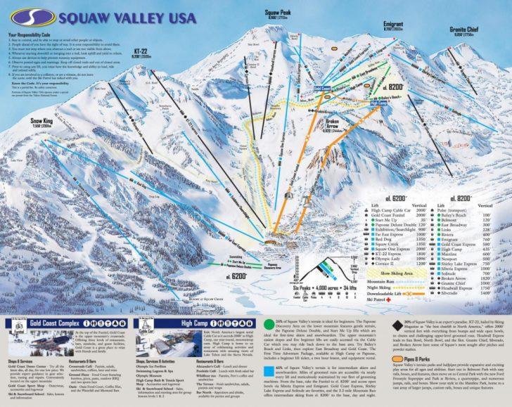 California Ski Resorts Map