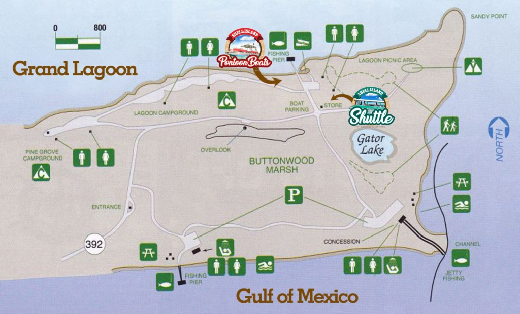 St. Andrews State Park Panama City Beach Mapshell Island Shuttle - Florida State Parks Map