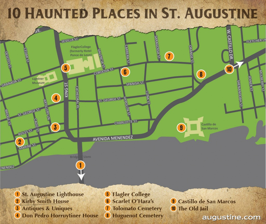 St. Augustine Haunts   Visit St Augustine - Map Of Hotels In St Augustine Florida