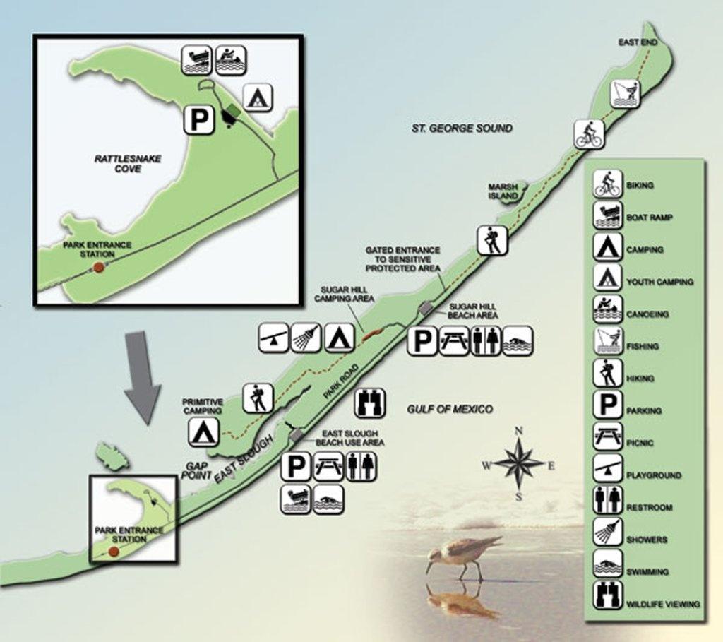 St. George Island State Park - Maplets - St George Island Florida Map