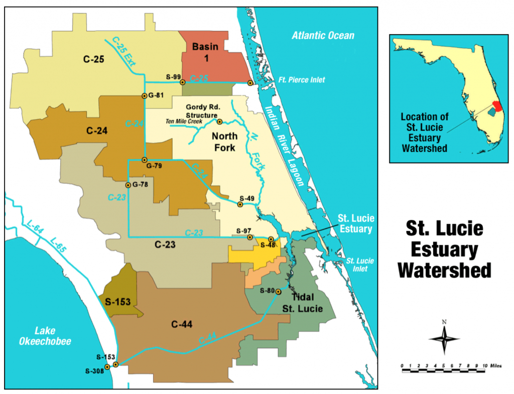 St. Lucie River - Wikipedia - Map Showing Stuart Florida