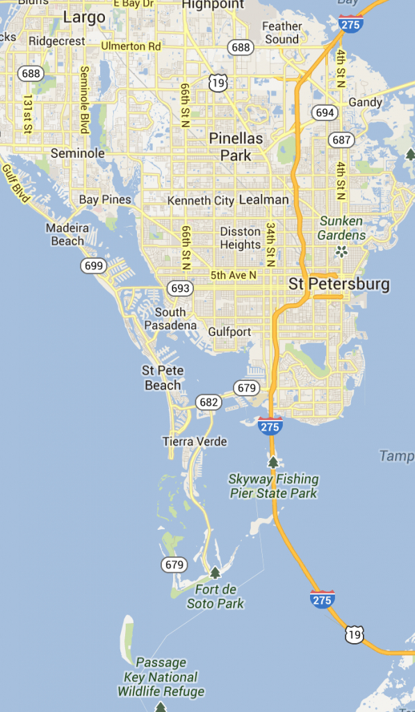 St. Pete Beach And Pass-A-Grille Florida | St Petersburg Clearwater - Punta Verde Florida Map