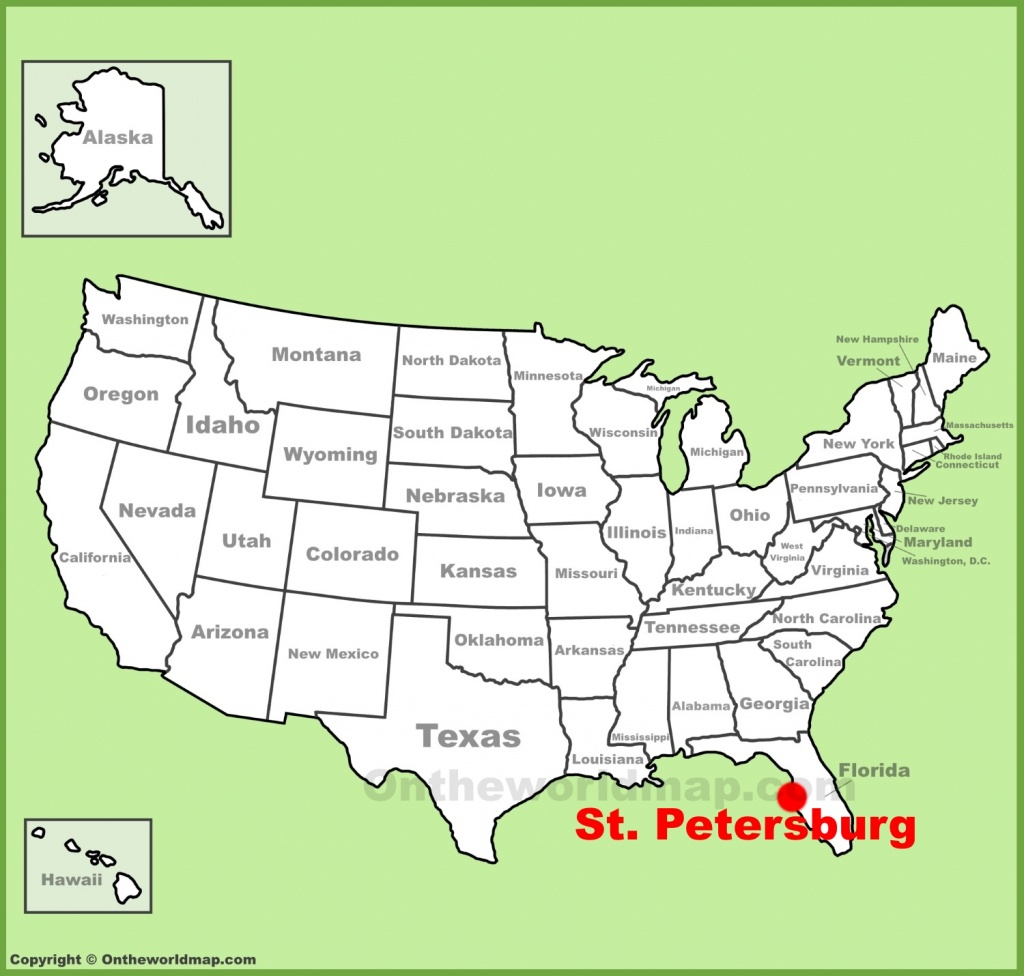 St. Petersburg Maps | Florida, U.s. | Maps Of St. Petersburg - City Map Of St Petersburg Florida