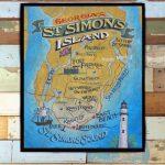 St. Simons Island Map Print From An Original Hand Lettered | Etsy   Printable Map Of St Simons Island Ga