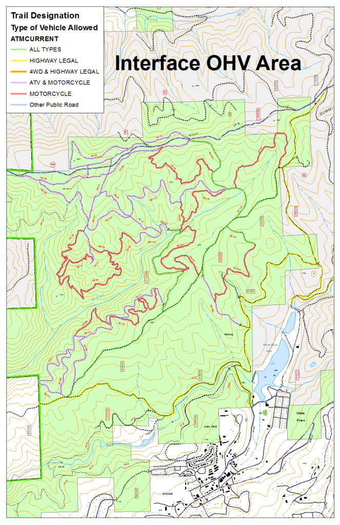 Stanislaus National Forest - Interface Ohv Area - California Ohv Map