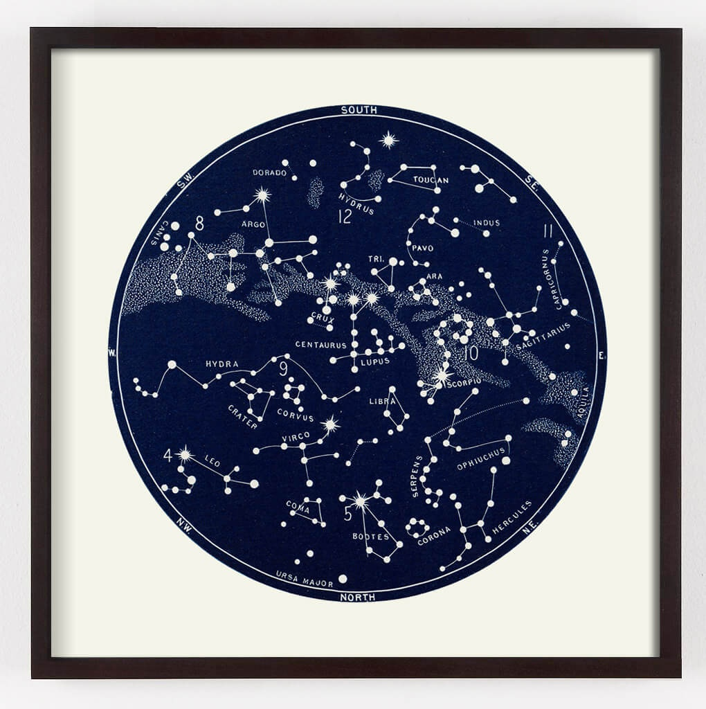 Star Map Constellation Print | Capricorn Press - Printable Star Map