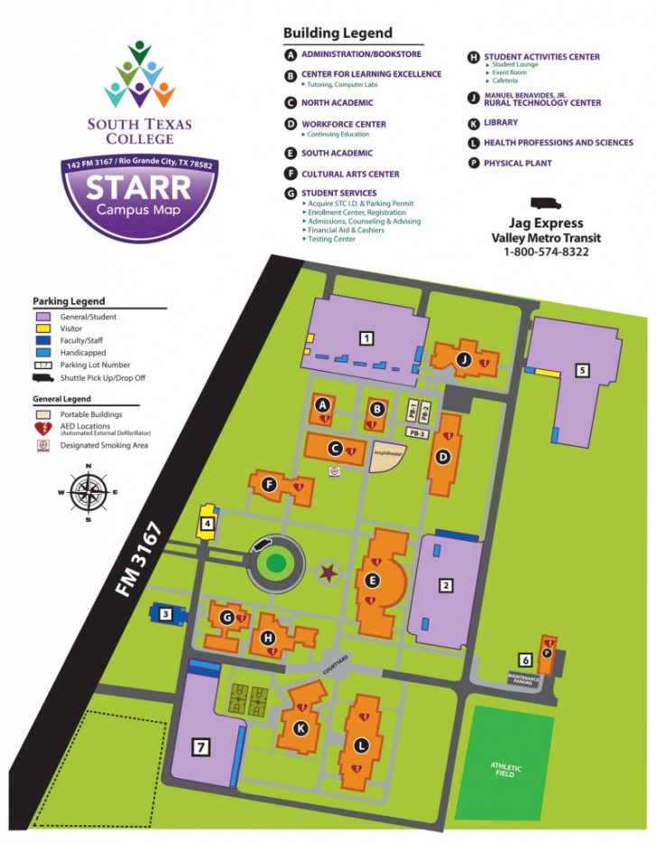 South Texas College Mid Valley Campus Map