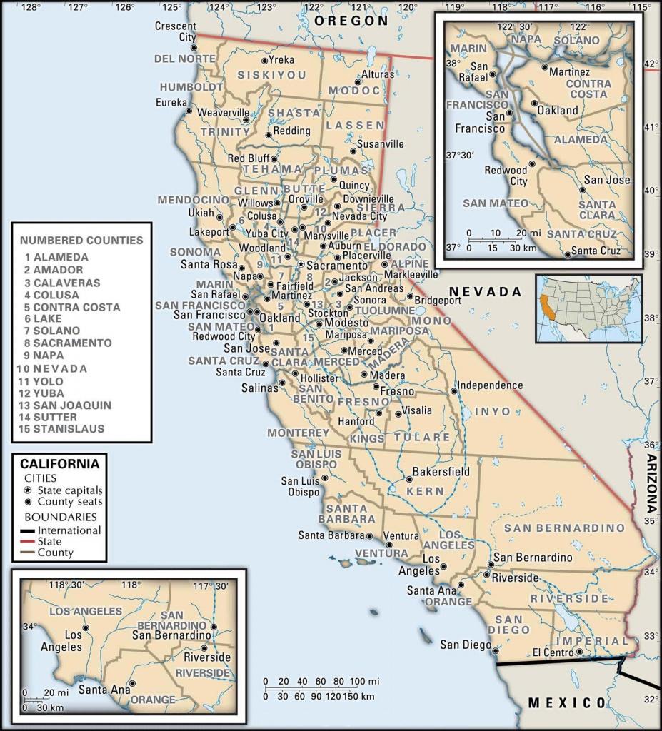 State And County Maps Of California - San Bernardino California Map