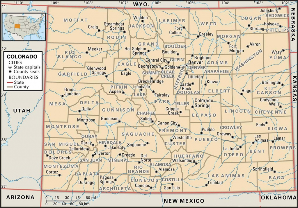 State And County Maps Of Colorado - Printable Map Of Colorado Cities