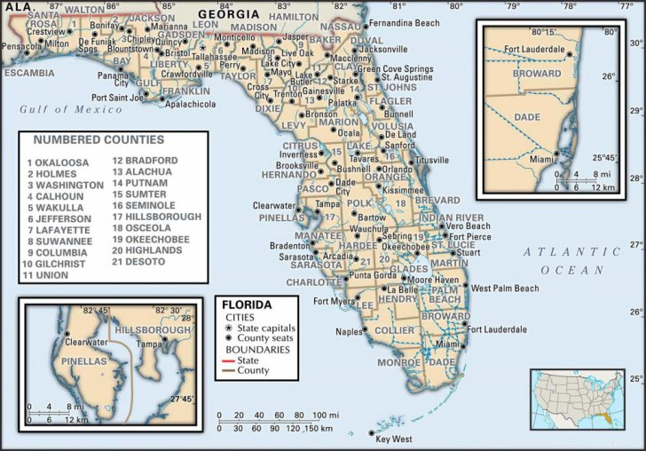 Tallahassee On The Map Of Florida