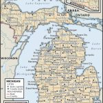 State And County Maps Of Michigan - Printable Map Of Michigan