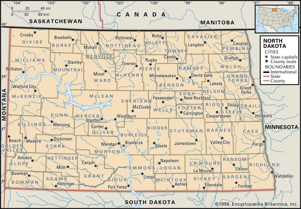 State And County Maps Of North Dakota - South Dakota County Map Printable