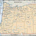 State And County Maps Of Oregon   California Oregon Washington Road Map