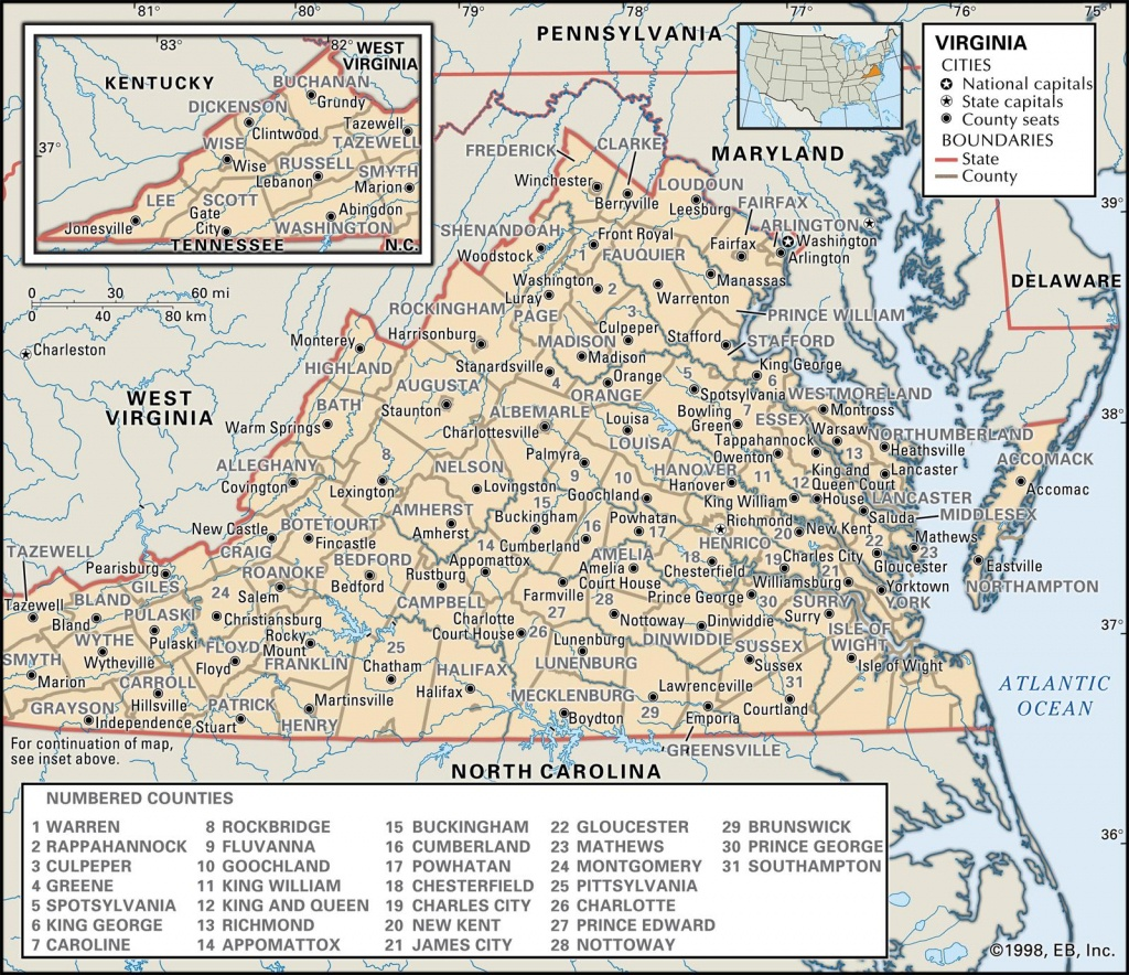 State And County Maps Of Virginia - Virginia County Map Printable