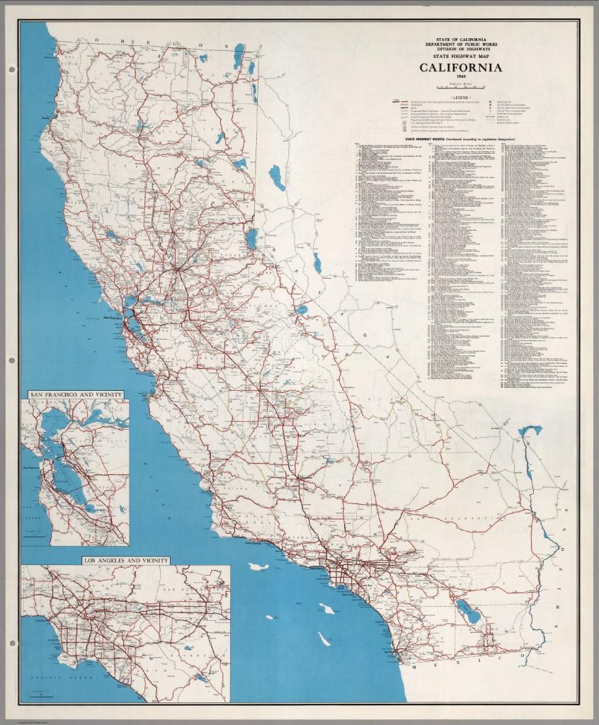 State Highway Map, California, 1960. - David Rumsey Historical Map - California Atlas Map
