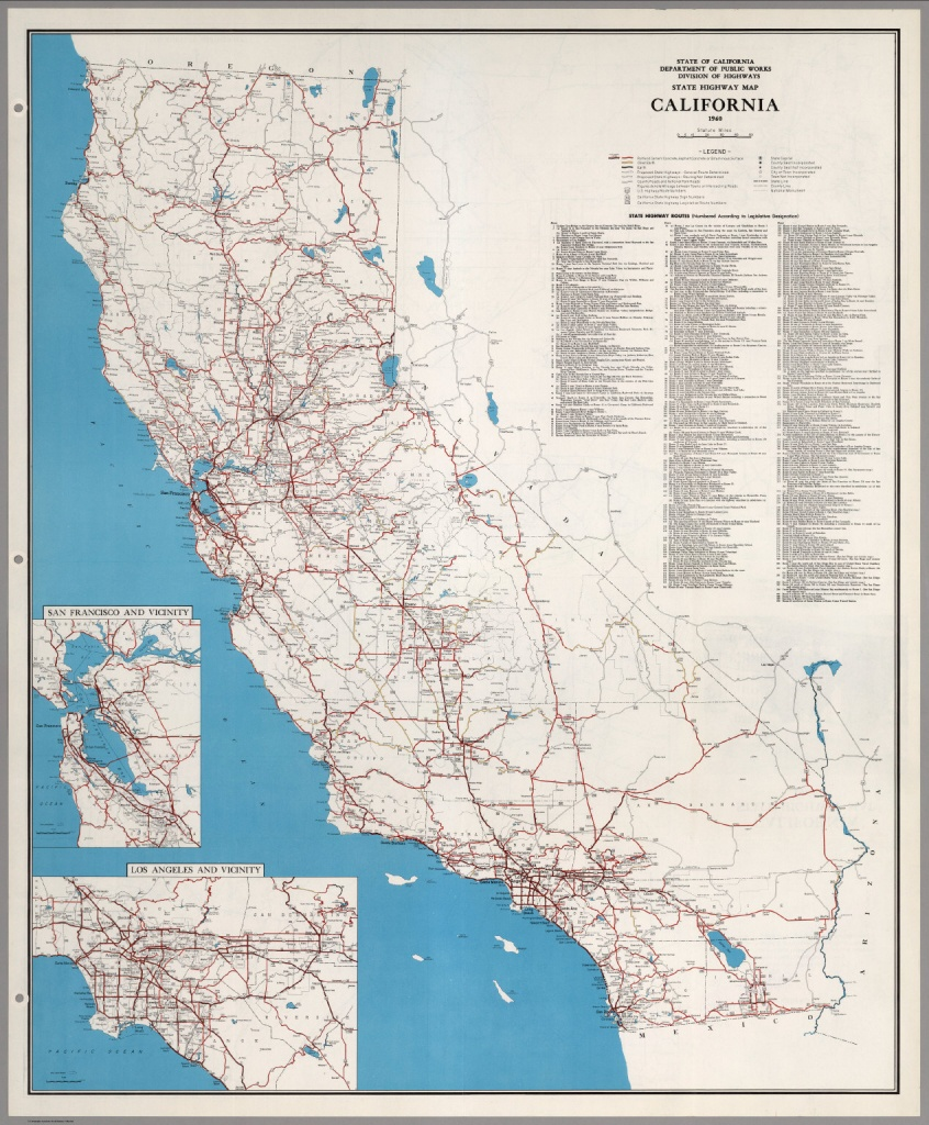 State Highway Map, California, 1960. - David Rumsey Historical Map - Driving Map Of California With Distances