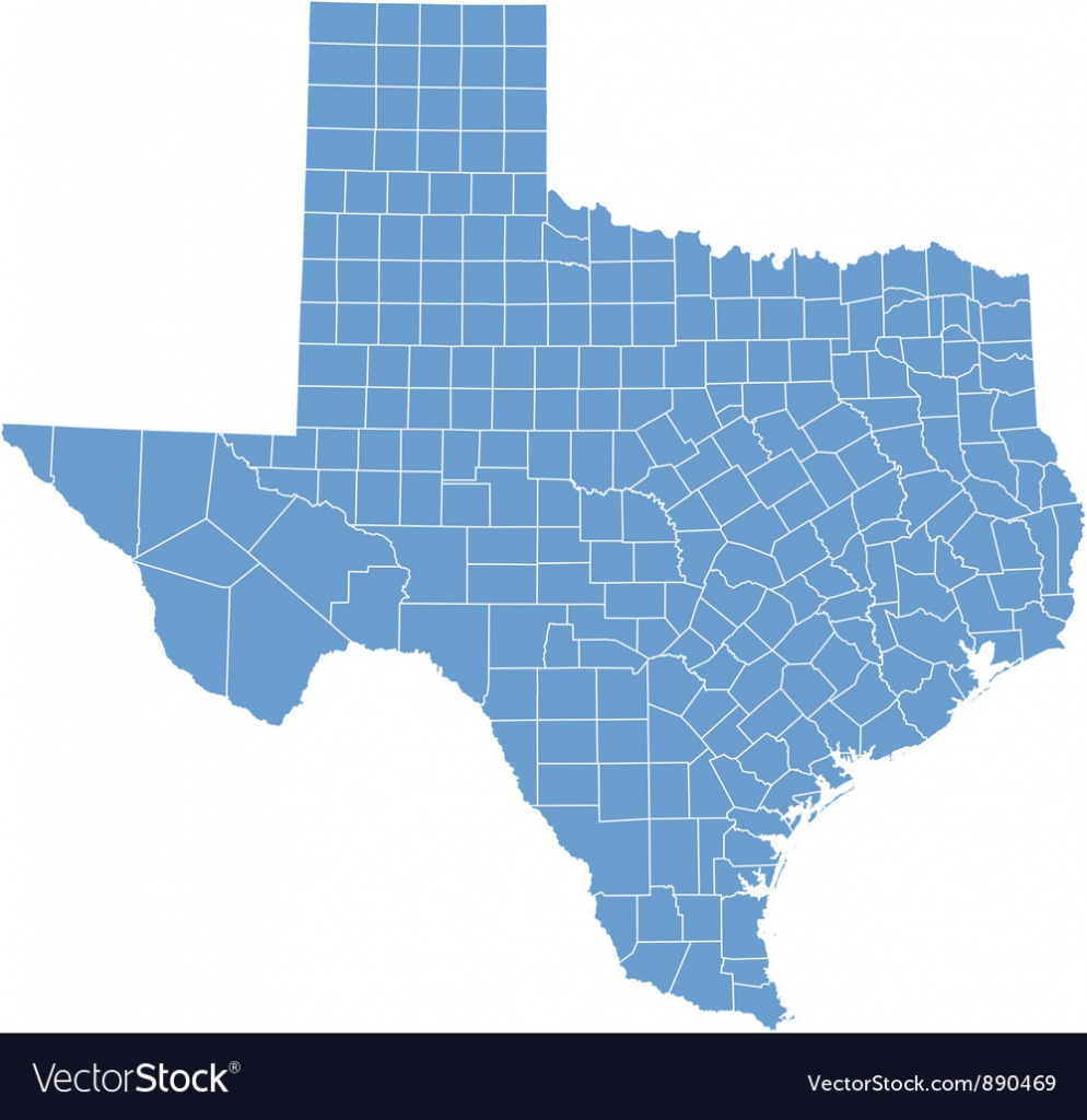 State Map Of Texascounties Royalty Free Vector Image - Texas County Map Vector