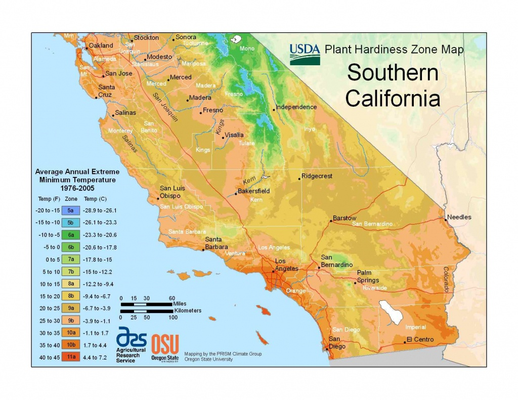 State Maps Of Usda Plant Hardiness Zones - Growing Zone Map California