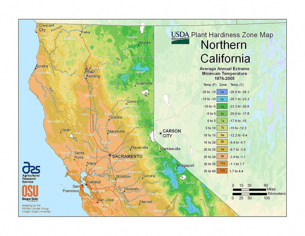 State Maps Of Usda Plant Hardiness Zones - Usda Loan Map California