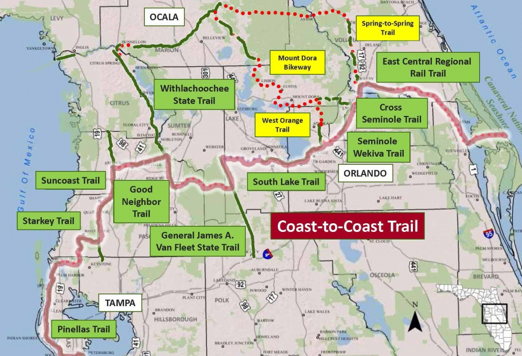Stay Informed On The Coast-To-Coast Connector | Best Foot Forward - Central Florida Bike Trails Map