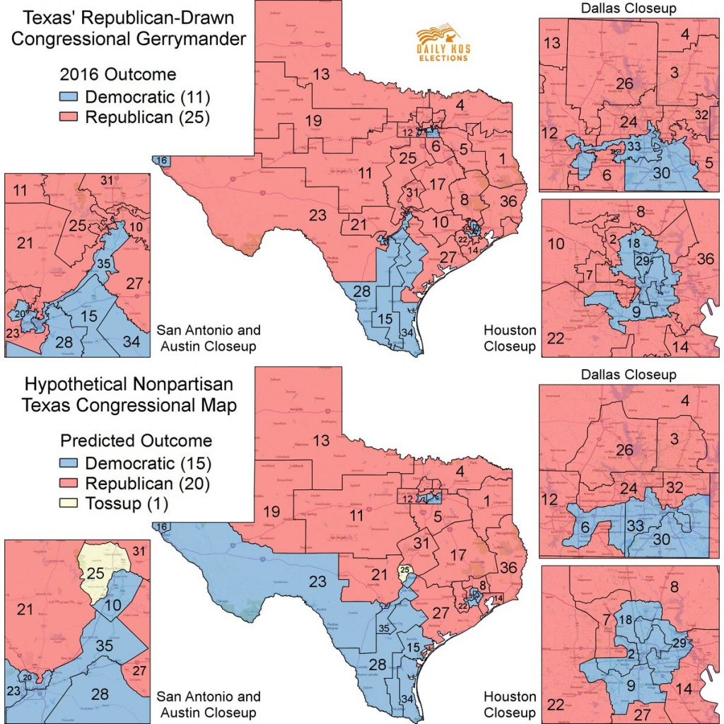 "Stephen Wolf On Twitter: ""here's What A Fully Nonpartisan Texas - Texas Congressional Map"
